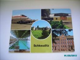 SCHKEUDITZ  LEIPZIG  AIRPORT , PLANETARIUM ,  POSTCARD ,  O - Aerodrome