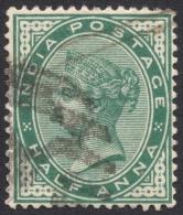 India, 1/2 A. 1882, Sc # 36, Used. - India (...-1947)