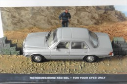 MERCEDES BENZ 450SEL JAMES BOND 007 FOR YOUR EYES ONLY UNIVERSAL HOBBIES 1/43 DIORAMA