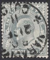 India, 3 P. 1902, Sc # 60, Used. - India (...-1947)