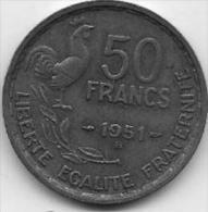 50 Francs 1951 B - Frankrijk