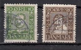 Danemark Tricentenaire De La Poste  YT N°155  Et N°162 - 1913-47 (Christian X)