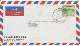 Pakistan Air Mail Cover Sent To Denmark 1963 - Pakistan