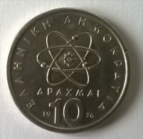 Monnaies - Grèce - 10 Drachmes 1976 - - Greece