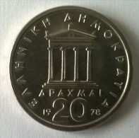 Monnaies - Grèce - 20 Drachmes 1978 - Superbe- - Greece