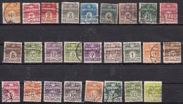 Danemark    Type A  Nombre    26 Valeurs - 1913-47 (Christian X)