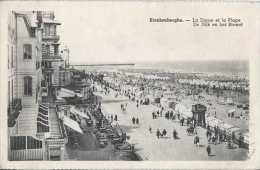 Blankenberge - Blankenberghe - La Digue Et La Plage - De Dijk En Het Strand - Circulé En 1945 - Animée - NB - TBE - Blankenberge