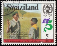 SWAZILAND - Scott #418 Boy Scout Movement, 75th Anniv. / Used Stamp - Swaziland (1968-...)