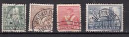 Danemark    4ème Centenaire De L'eglise Anglicane   4 Valeurs - 1913-47 (Christian X)