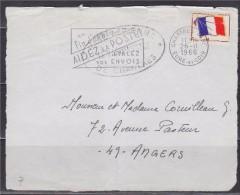 = Base Aérienne De Chartres Le Vaguemestre Franchise 13 Flamme Aidez La Poste En Fin D'année étalez Vos Envois 26.11.66 - Franchise Stamps