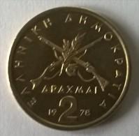 Monnaies - Grèce - 2 Drachmes 1978 - Superbe- - Grèce