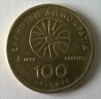 Monnaies - Grèce - 100 Drachmes 1992 - Superbe - - Greece