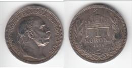 **** HONGRIE - HUNGARY - 1 KORONA 1916 FRANZ JOSEPH I - ARGENT - SILVER **** EN ACHAT IMMEDIAT !!! - Hungary