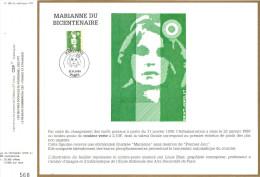 Sur Feuillet CEF , Paris Janvier 1990 . Pour Cette Marianne Il Y A Eu Une Oblitération MARIANNE Sans Mention Premier Jou - FDC