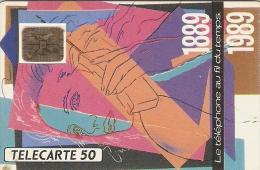 Télécarte - France - Le Téléphone Au Fil Du Temps 1889 1989 - Telefoni