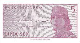 Indonesia - Pick 91 - 5 Sen 1964 - Unc - Indonesia