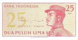 Indonesia - Pick 93 - 25 Sen 1964 - Unc - Indonesia