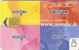 Télécarte - France - Assedic - Télécartes
