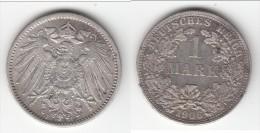 **** ALLEMAGNE - GERMANY - 1 MARK 1906 F - ARGENT - SILVER *** EN ACHAT IMMEDIAT !!! - [ 2] 1871-1918: Deutsches Kaiserreich
