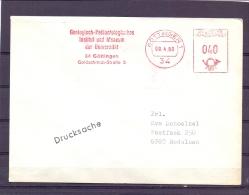 Deutsche Bundespost - Geologisch- Und Paläentologisches Inst. Und Museum Der Universität - Göttingen 9/4/80 (RM10341) - Vor- U. Frühgeschichte
