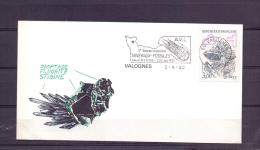 Rép. Française -3e Bourse Exposition Mineraux Fossiles - Valognes 2/4/90  (RM10377) - Timbres
