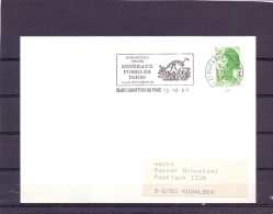 Rép. Française - Exposition Vente Minéraux Fossiles - Dijon 12/10/89    (RM10392) - Timbres
