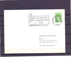 Rép. Française - Mineraux Et Fossiles - Expo Inter-nations - Bourgoin Jallieu 24/12/81  (RM10413) - Fossilien
