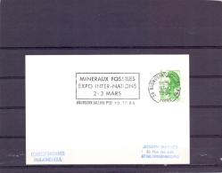 Rép. Française - Mineraux Et Fossiles - Expo Inter-nations - Bourgoin Jallieu 10/12/84  (RM10414) - Fossilien