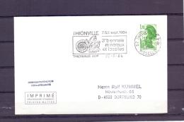 Rép. Française - 3e Biennale Minéraux Et Fossiles - Thionville 22/8/1984 (RM10454) - Fossilien