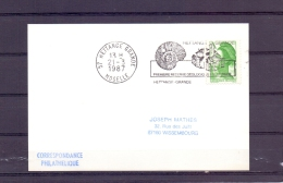 Rép. Française - Première Réserve Geologique En Lorraine - Hettange Grande 21/3/87 (RM10456) - Fossilien