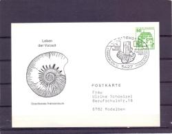 Deutsche Bundespost - 4e Mineraliën- Und Fossilenbörse - Bad Ems 3/4/1982  (RM10515) - Fossielen