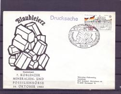 Deutsche Bundespost - 7. Koblenzer Mineralien- Und Fossilienbörse - Koblenz 16/10/1983 (RM10529) - Fossielen