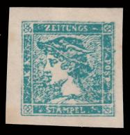 Lombardo Veneto: Francobollo Per Giornali 3 C. Azzurro - 1851/55 - Lombardo-Veneto