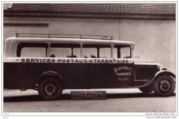 MOUTIERS - SERVICE POSTAUX DE TARENTAISE  CARROSSERIE AUTOMOBILE ROUSSET LYON  153 CHEMIN BARABAN - CARTE PHOTO - Moutiers