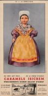 Isicrem  - Galliot - Isigny - Caramels Isicrem -  La Berrichone  - Format 10 X 19,5 Cm - Produits Laitiers