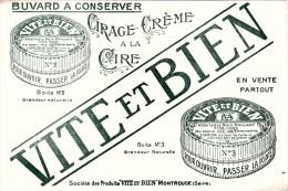 """""""Vite Et Bien """" Cirage Crème -  Montrouge  - Format 13,5 X 20 Cm - Produits Ménagers"""