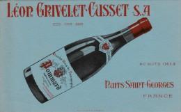 """Vin  """" Leon Grivelet Cusset """" - Pommard  1952 -  Nuit Saint Georges - Format 12,8 X 20,5 Cm - Autres"""