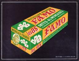 FAMO - Pates Alimentaires  - Casablanca Maroc - Format  18,5 X 14 Cm - Alimentaire