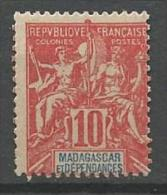 MADAGASCAR N� 43 NEUF* TRACE DE CHARNIERE / MH