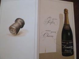 Rare Publicité Pub Champagne Lanson Reims - Publicités