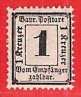 MiNr.2 D  Xx Altdeutschland Bayern Dienstpost - Bayern