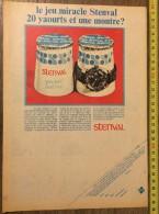 PUB PUBLICITE YAOURT STENVAL PETIT SUISSE BOOM JEU MIRACLE MONTRE STEENVOORDE - Collections