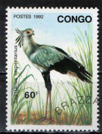 CONGO BRAZZAVILLE - 1992 - UCCELLO - BIRD - SAGITTARIUS SEREPNTARIUS - USATO - Congo - Brazzaville