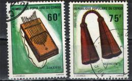 CONGO BRAZZAVILLE - 1975 - STRUMENTI MUSICALI AFRICANI: LIKEMBE E NGONGUI - USATI - Congo - Brazzaville