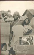 Carte Maximum  - Quinzaine Impériale 1942   (sur Carte Ancienne) - Brazzaville