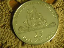 ST. HELENA - 25 Pence 1973 Tercentenary - 28.28 G Silver .925 - Only 10,000 Pcs - PROOF(minus) - Saint Helena Island