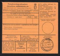 1970. Postopkrævnings-Adressekort 64 Kr. 00 øre. Frederiksdal, JULIANEHÅB 30.-6.-1970. . (Michel: ) - JF500290 - Zonder Classificatie