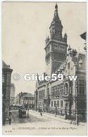 DUNKERQUE - L'Hôtel De Ville Et La Rue De L'Eglise (animée) - N° 23 - Dunkerque