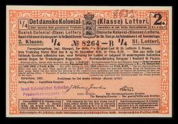 1931. Det Danske Kolonial- (Klasse) Lotteri. 2. Klasse. 51. Lotteri.  (Michel: ) - JF500365 - Non Classés