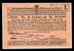 1933. Det Danske Kolonial- (Klasse) Lotteri. 1. Klasse. 54. Lotteri.  (Michel: ) - JF500369 - Danemark